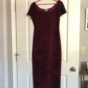 Rampage Velvet Feel Long Semi-Formal Red Dress (M)